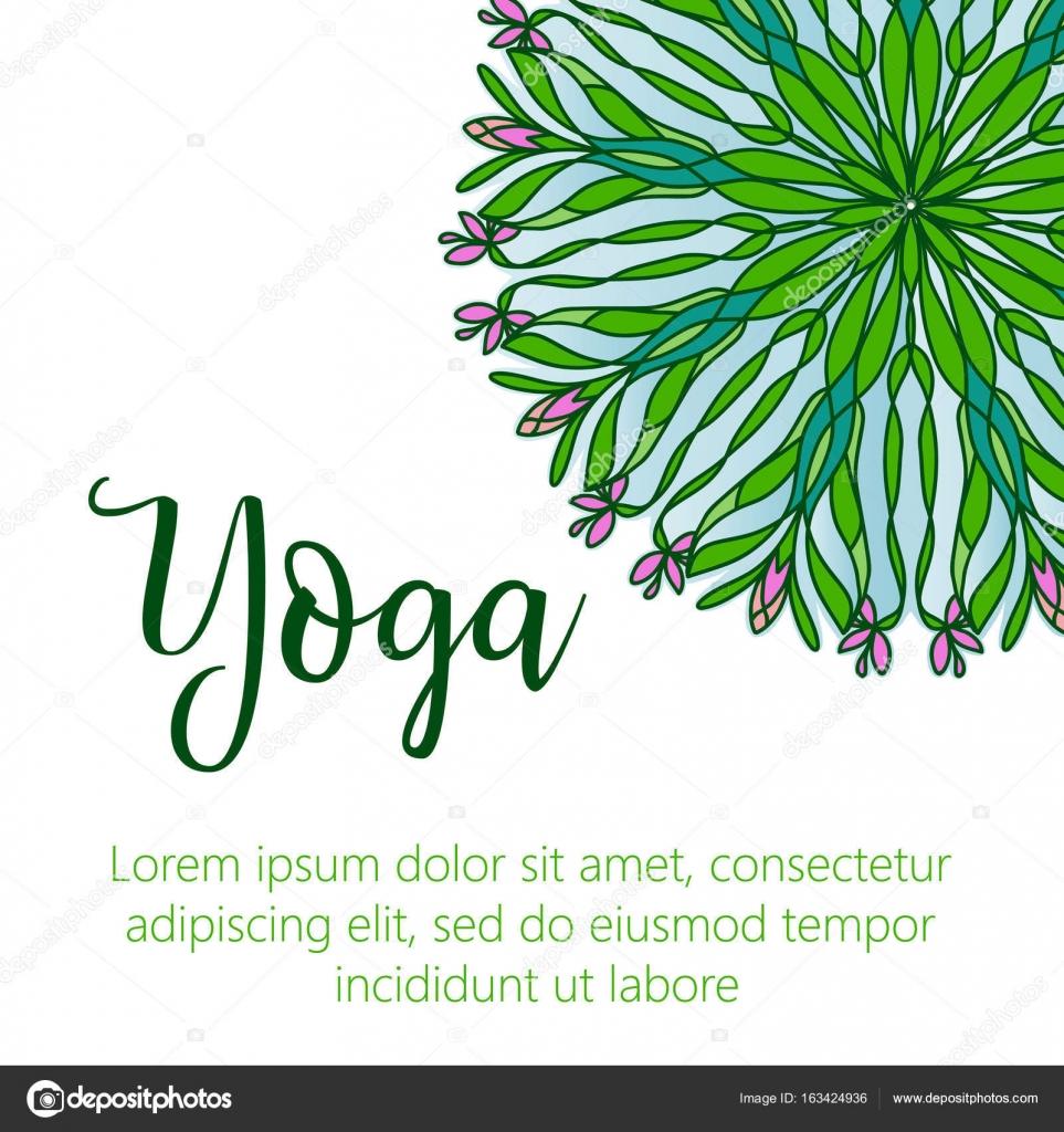 Ilustración de vector yoga. Plantilla del cartel para el día ...