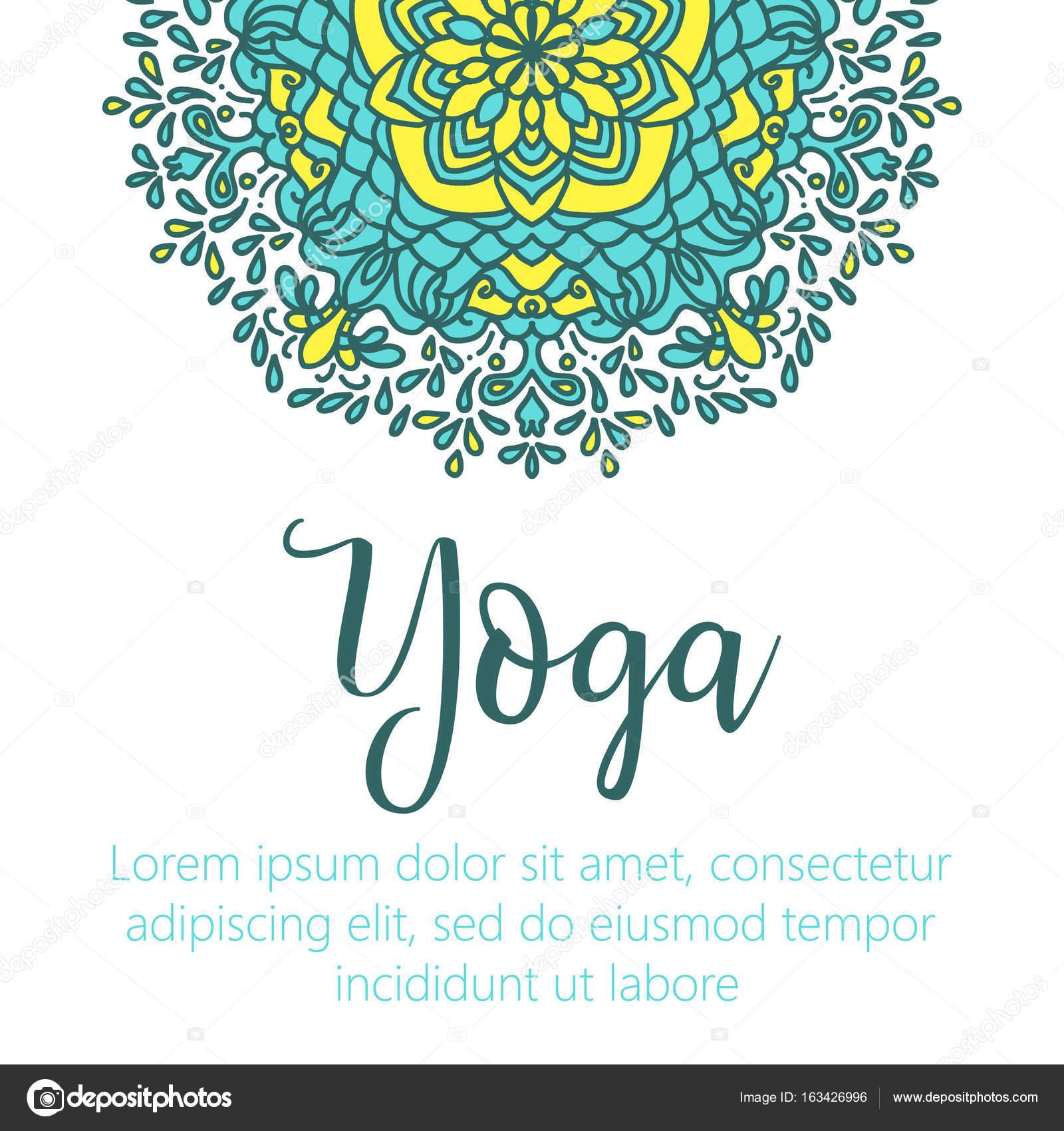 ector ilustración de yoga. Plantilla del cartel para el día ...