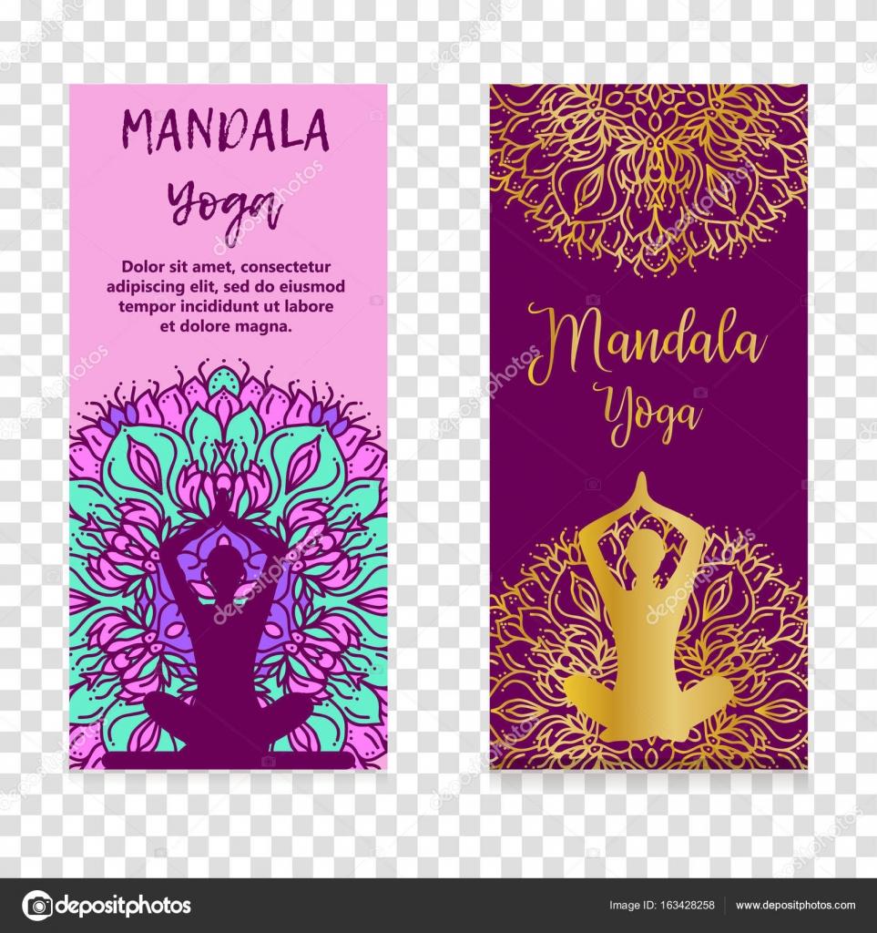 Vector Yoga Illustration Template Of Poster For International Yoga