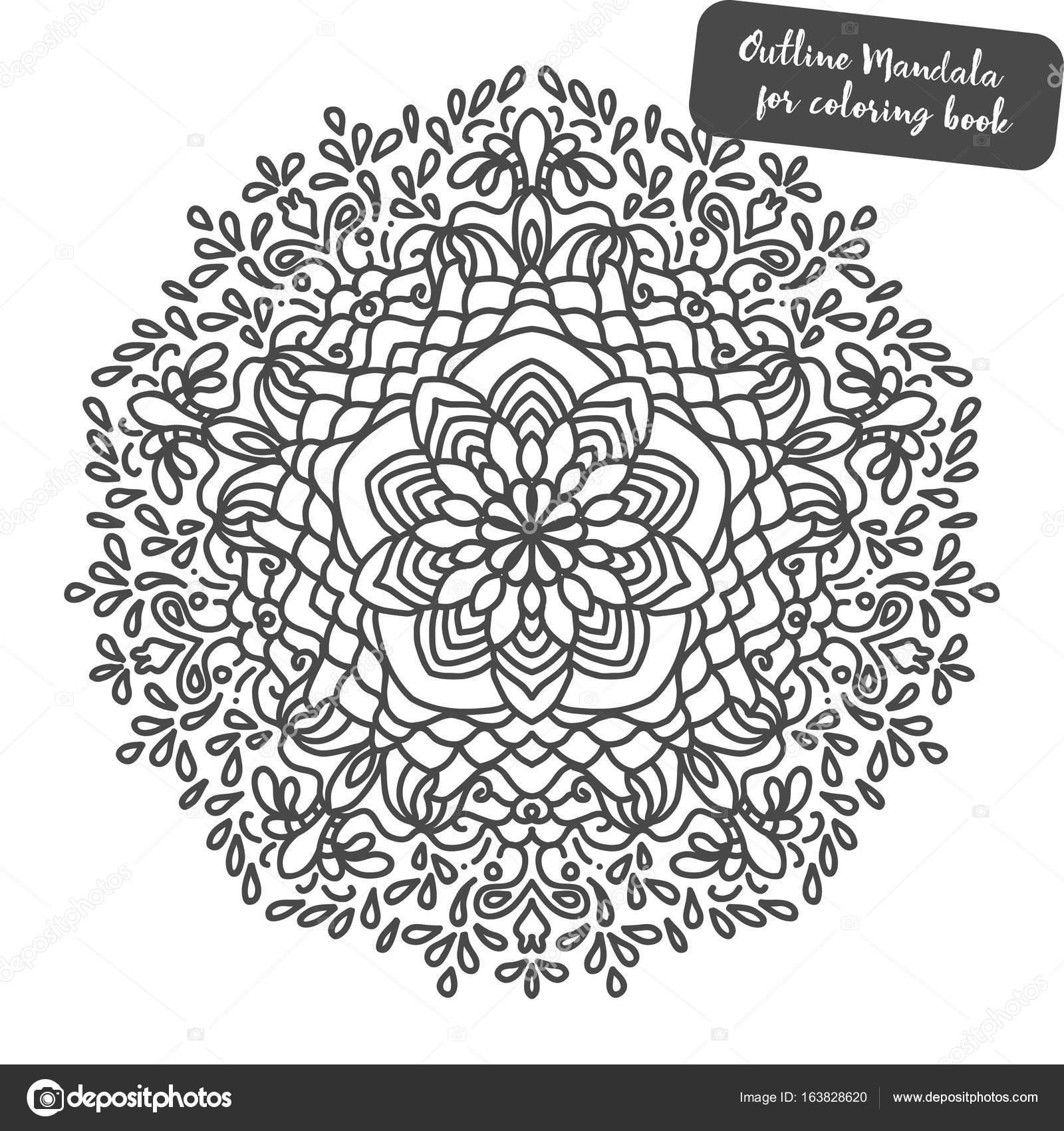 Mandala. Malvorlagen Buch. Indische antistress Medaillon. Abstrakte ...