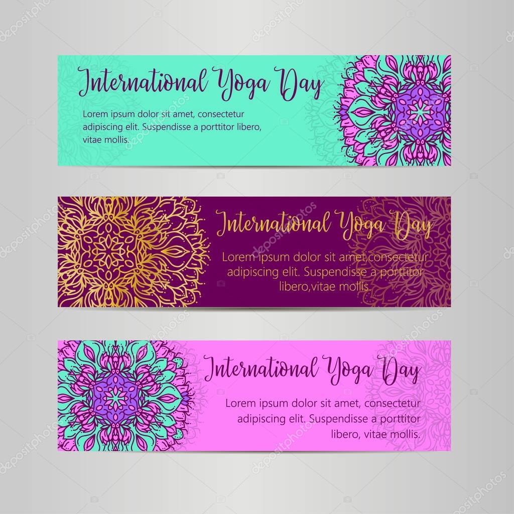 Yoga-Vektorgrafik. Vorlage des Plakats für den internationalen Yoga ...