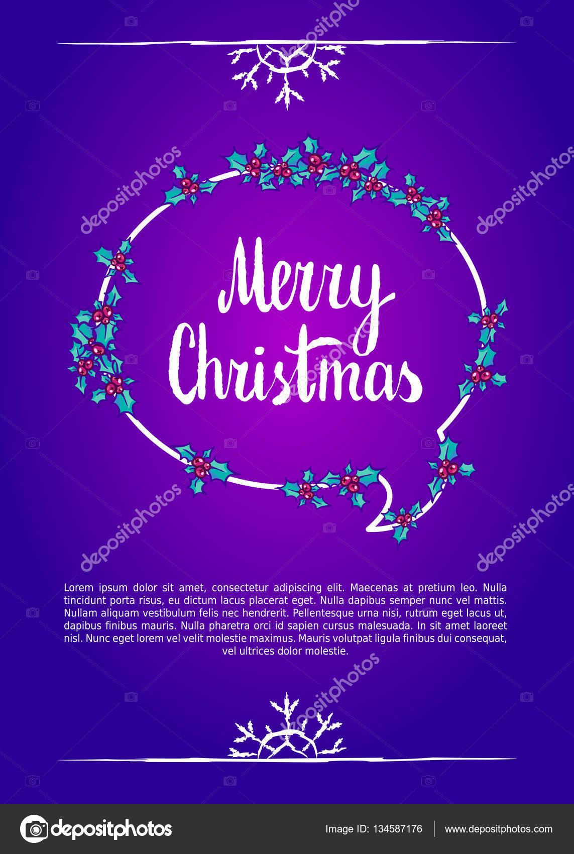 Frohe Weihnachten Clipart.Frohe Weihnachten Kalligraphie Clipart Vektor Illustration
