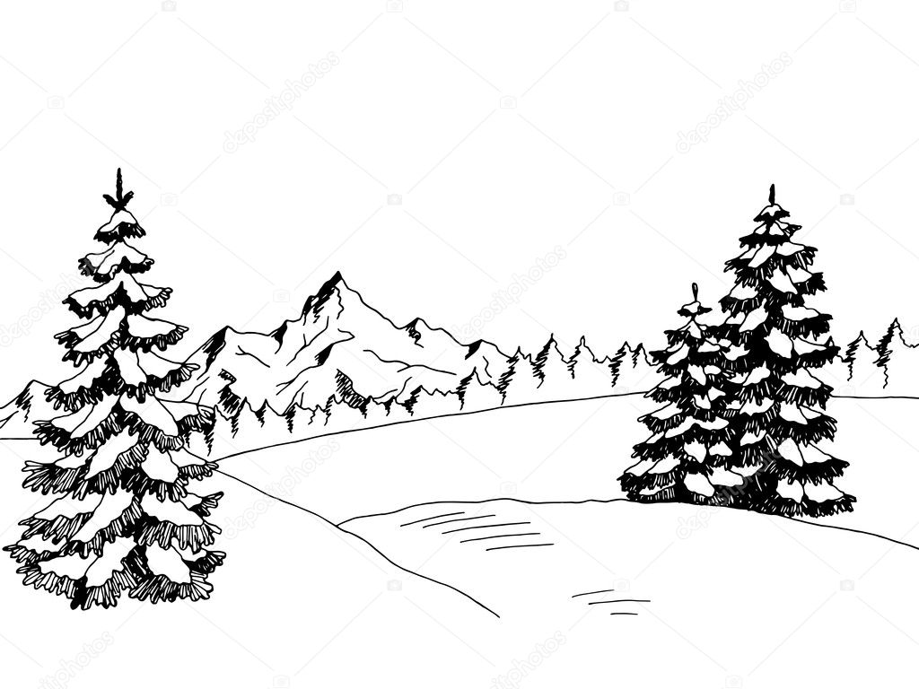 Рисунки живой лес