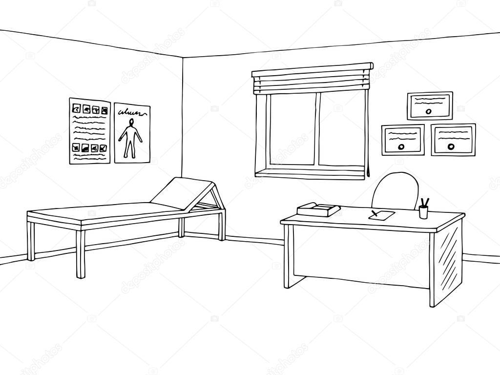 Imágenes Una Oficina Para Dibujar Vector De Ilustración De Doctor