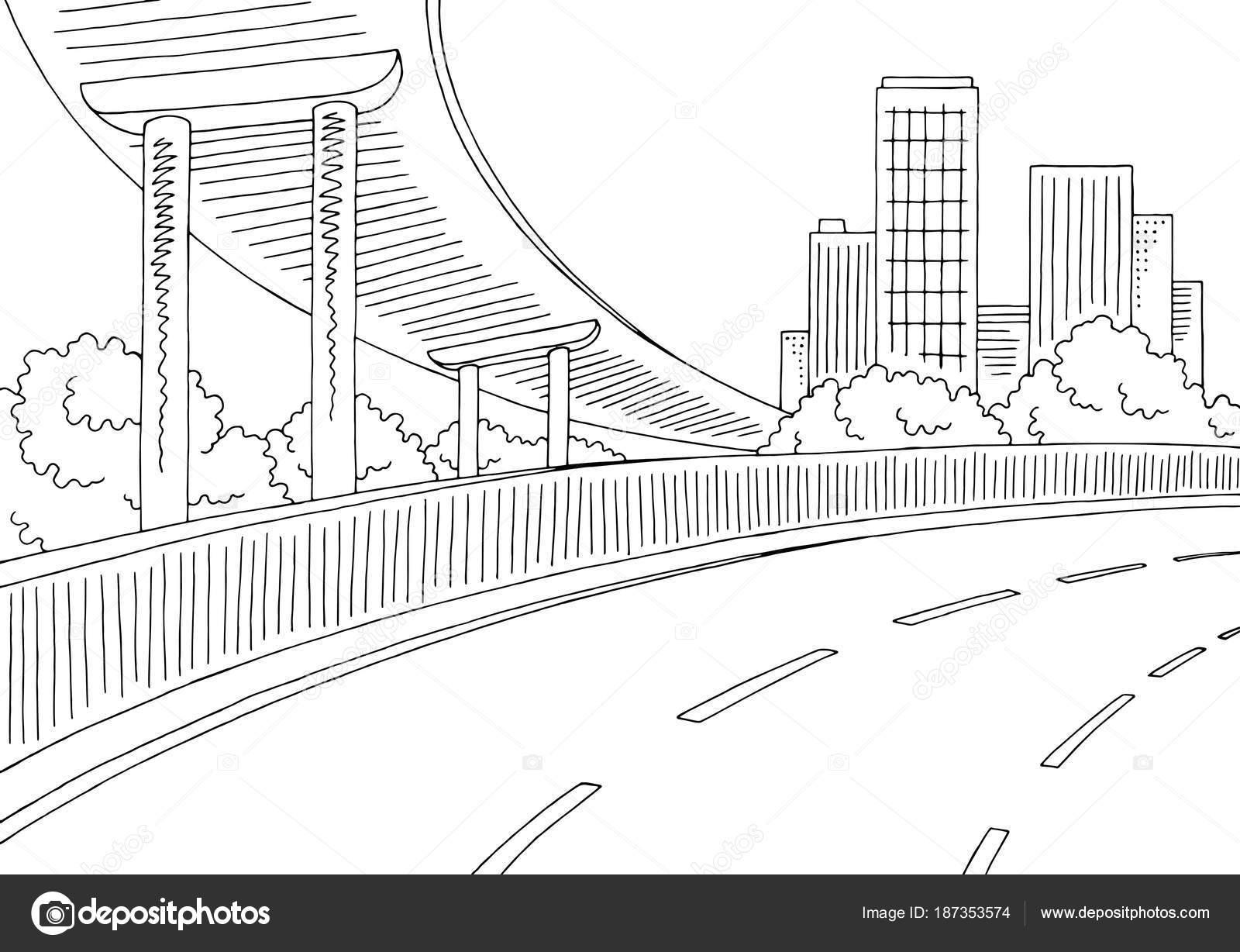 Dibujos Puentes Peatonales Para Colorear Paso Desnivel