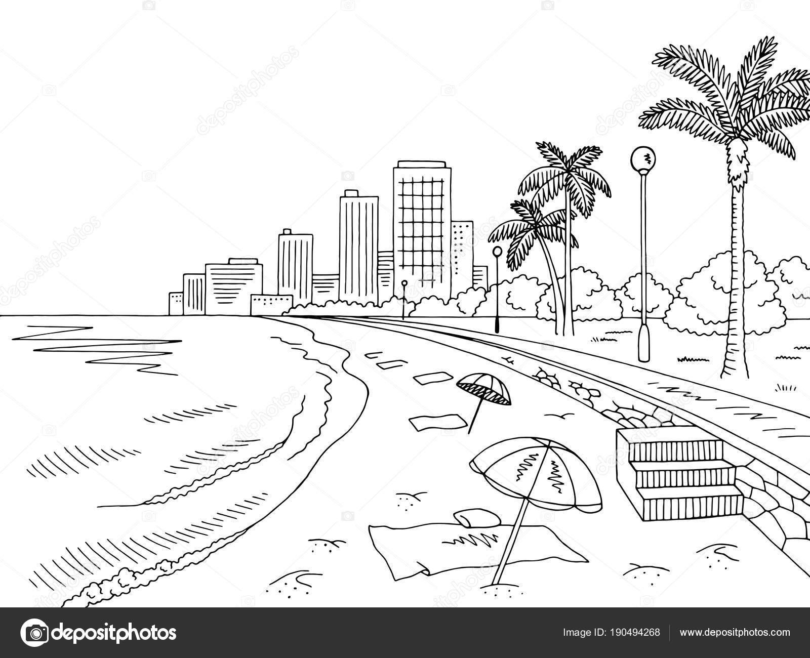 Imágenes Paisajes De Playa Para Pintar Paisaje Ciudad Blanca