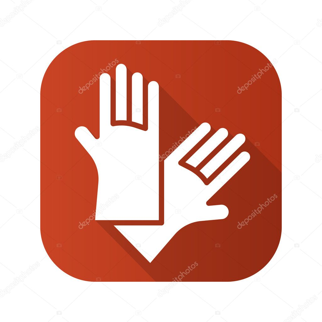 Latex gloves flat design long shadow icon stock vector latex gloves flat design long shadow icon vector silhouette symbol vector by johnsmithaps biocorpaavc
