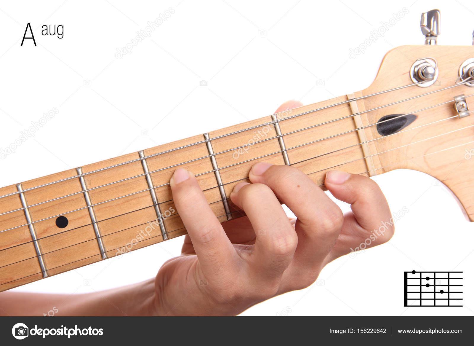 Aaug Guitar Chord Tutorial Stock Photo Pepscostudio 156229642