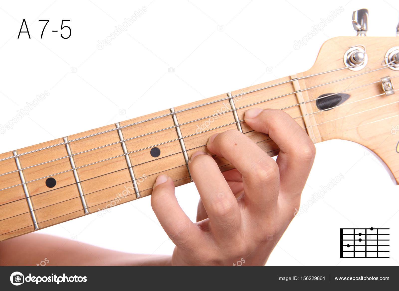 O Que Acorde Tutorial De Acordes De Guitarra A7 5 Foto De