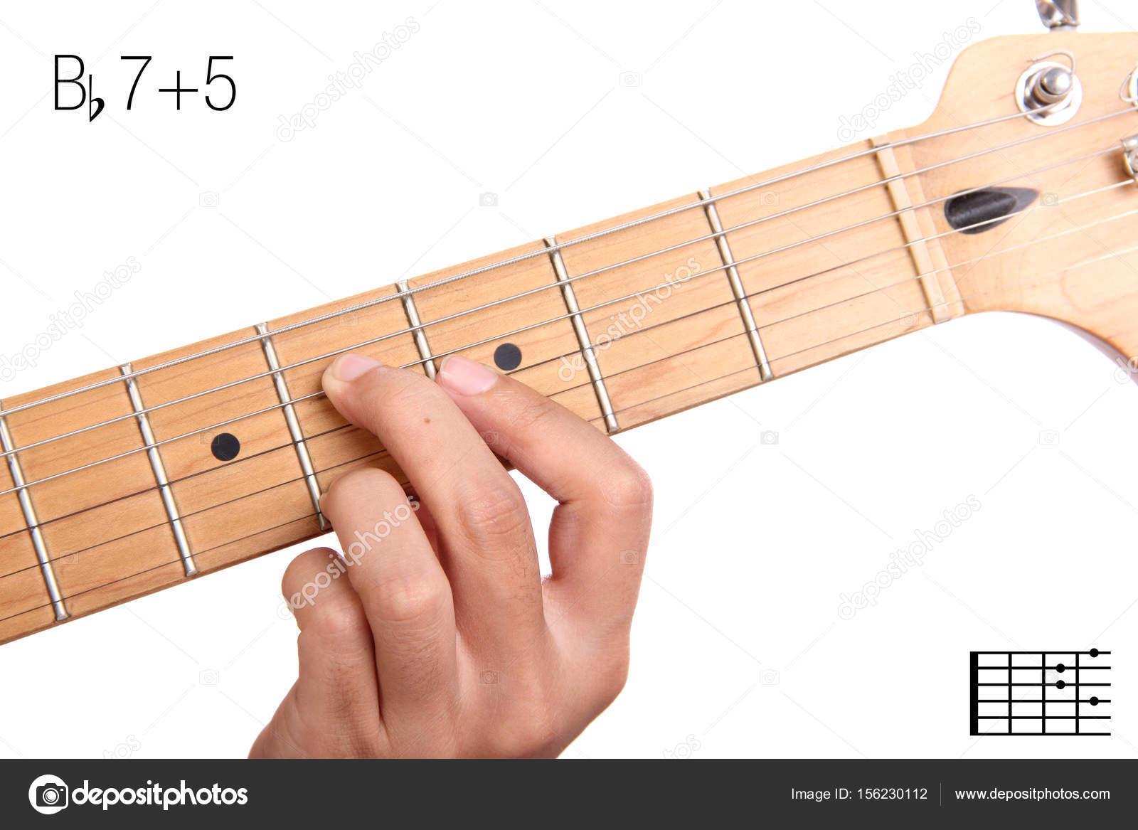 Bb75 Guitar Chord Tutorial Stock Photo Pepscostudio 156230112