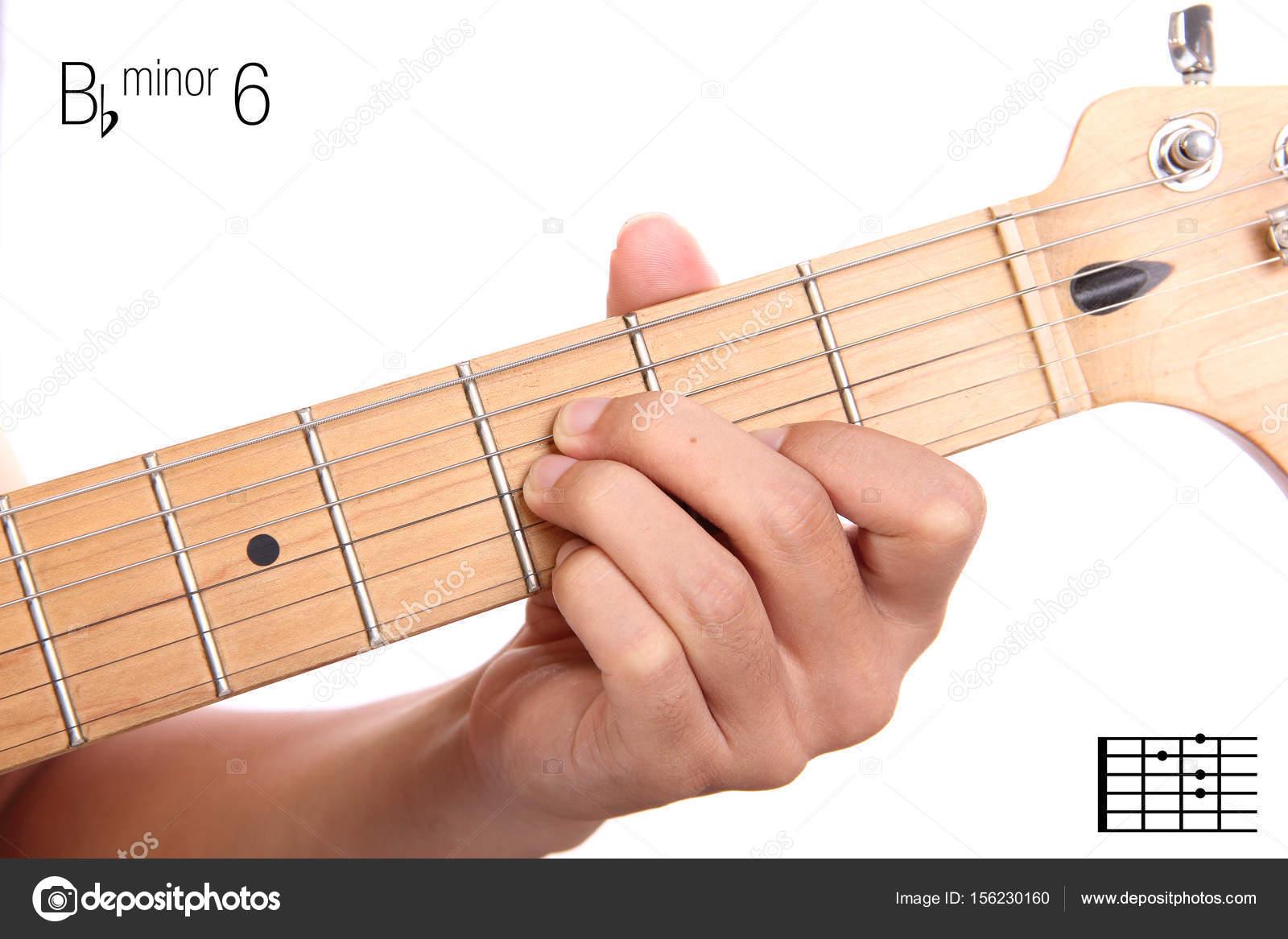 Bbm6 Guitar Chord Tutorial Stock Photo Pepscostudio 156230160