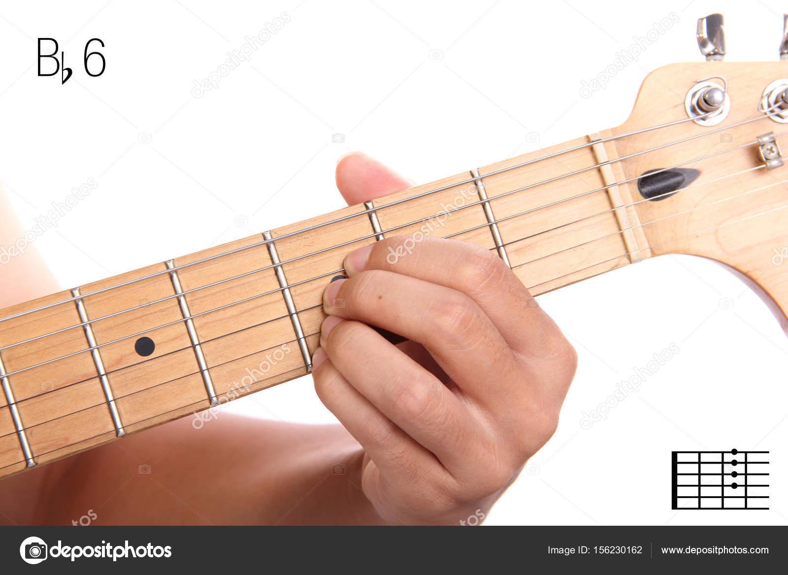 Bb6 Guitar Chord Tutorial Stock Photo Pepscostudio 156230162