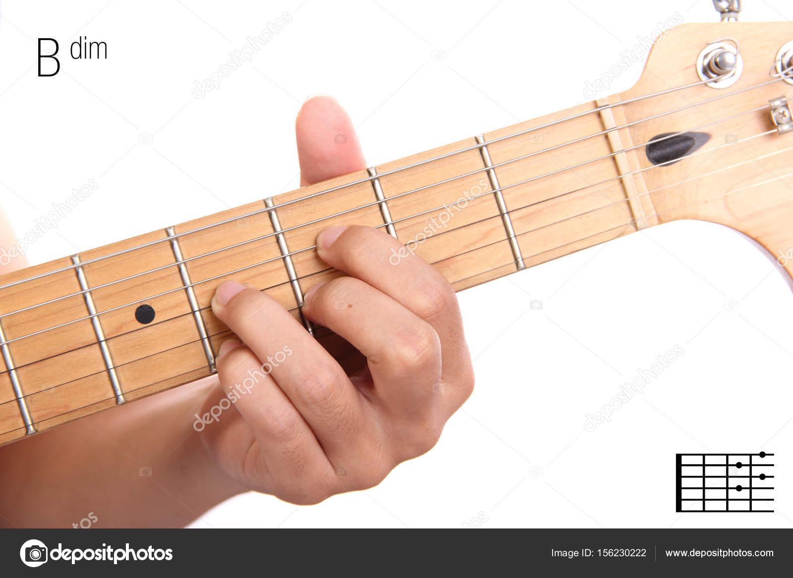 Bdim Guitar Chord Tutorial Stock Photo Pepscostudio 156230222