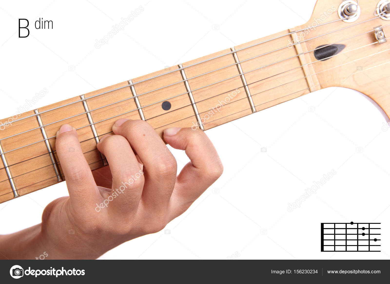 Baug Guitar Chord Tutorial Stock Photo Pepscostudio 156230234
