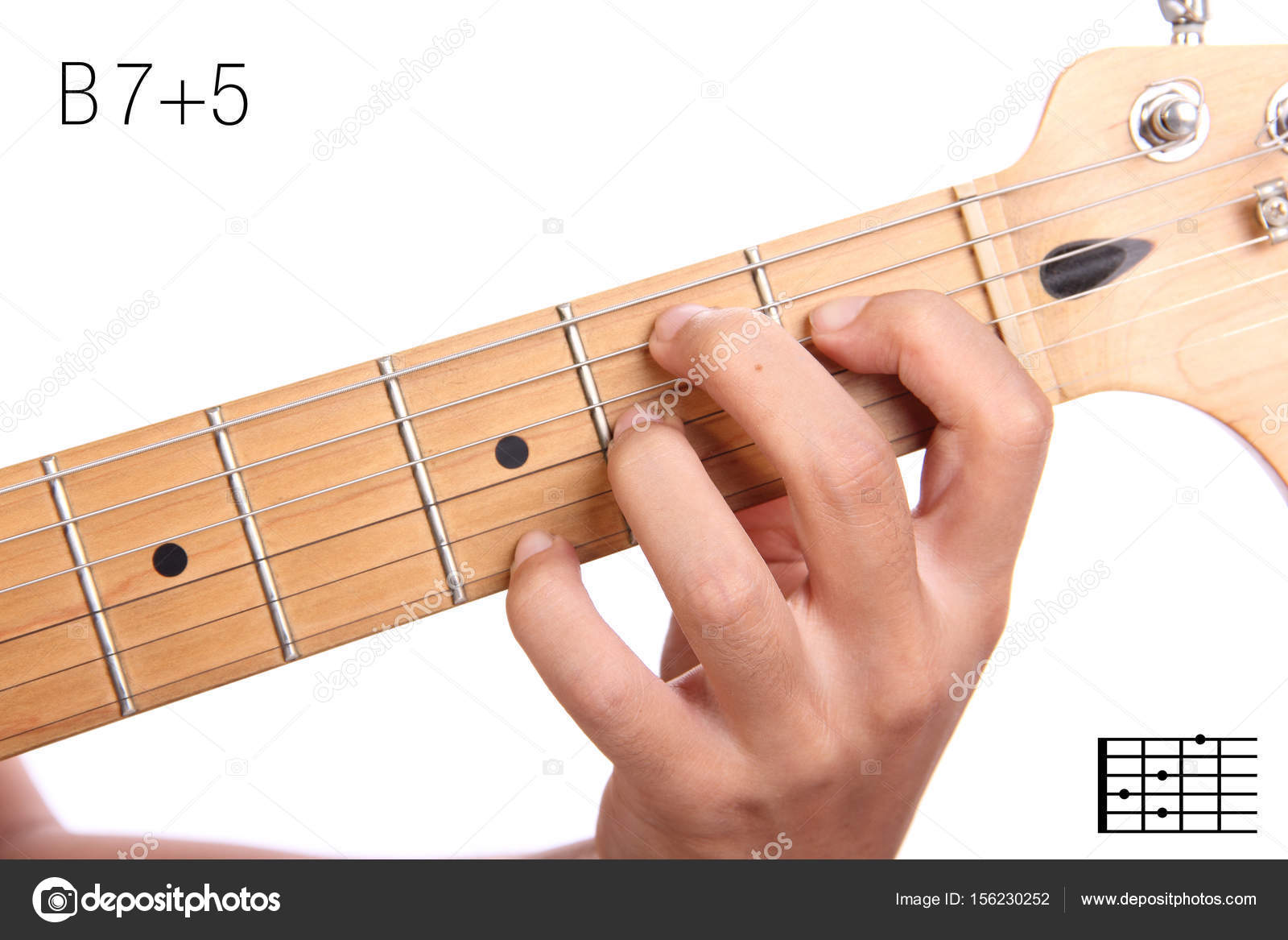 B75 Guitar Chord Tutorial Stock Photo Pepscostudio 156230252