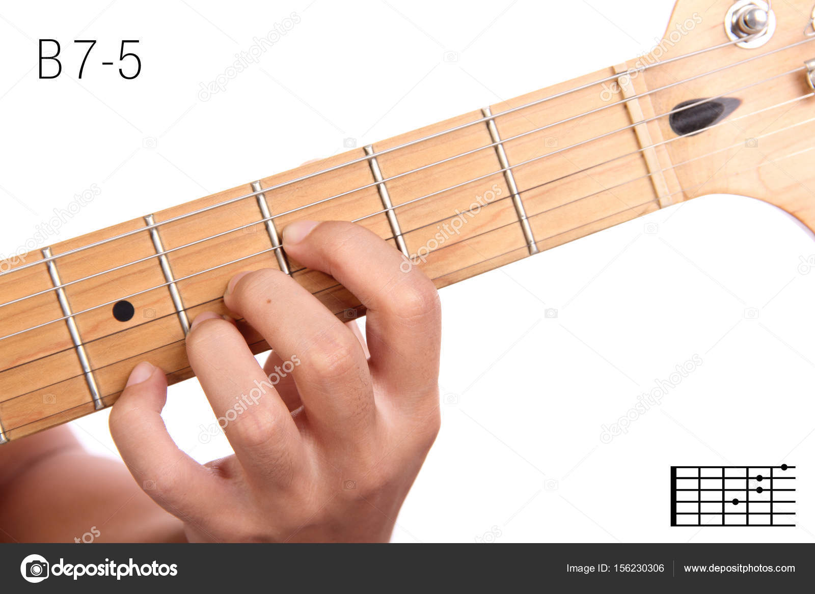 B7 5 Guitar Chord Tutorial Stock Photo Pepscostudio 156230306