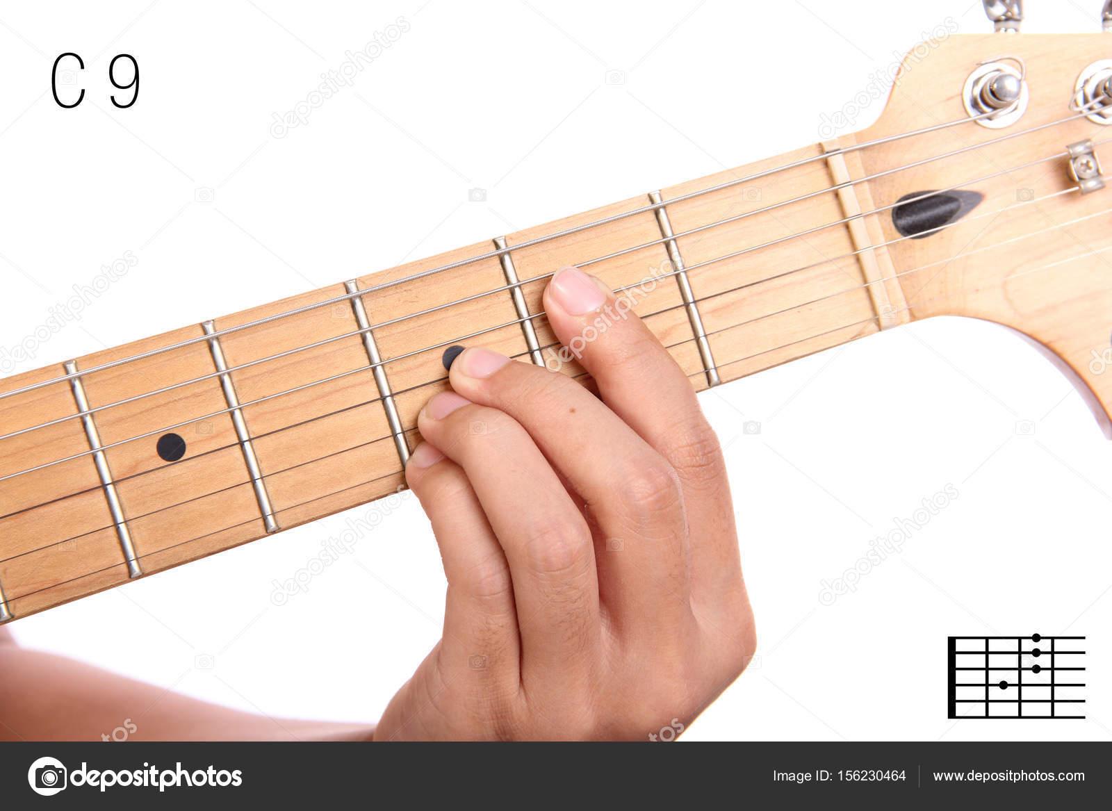 C9 Guitar Chord Tutorial Stock Photo Pepscostudio 156230464