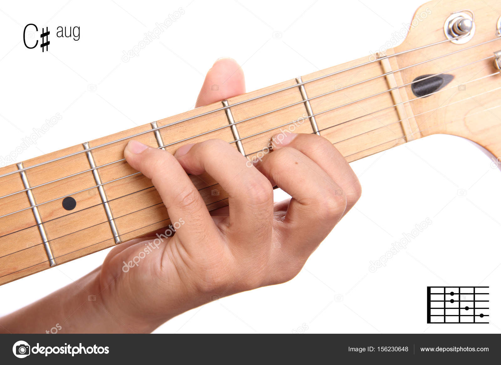 Caug Guitar Chord Tutorial Stock Photo Pepscostudio 156230648