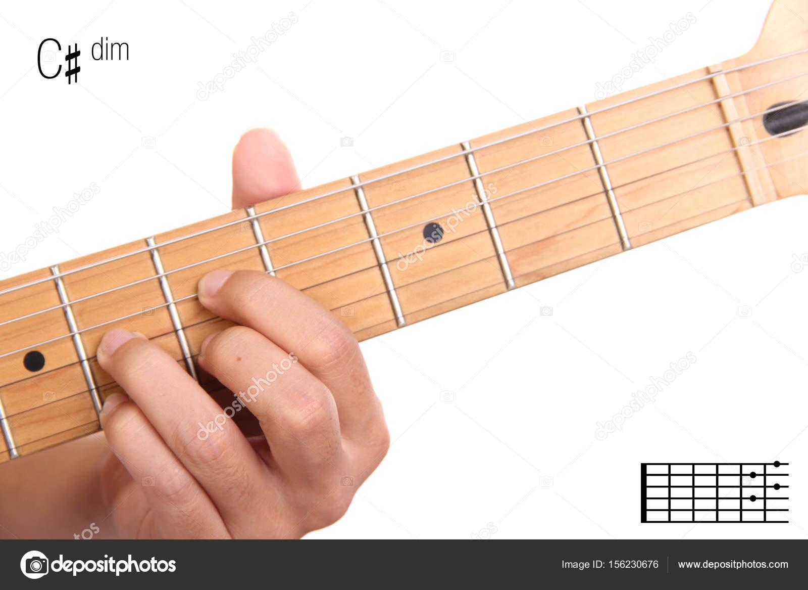 Cdim Guitar Chord Tutorial Stock Photo Pepscostudio 156230676