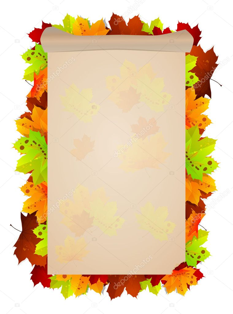 Design pattern on autumn themes. So it's time to start leaf fall