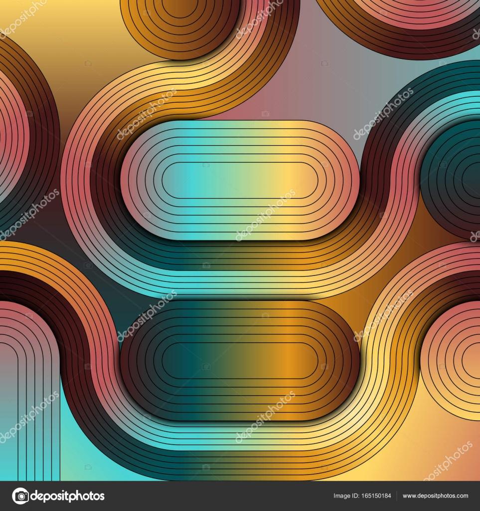 Eine abstrakte Darstellung, die Geometrie und Kunst verbindet. Ein ...