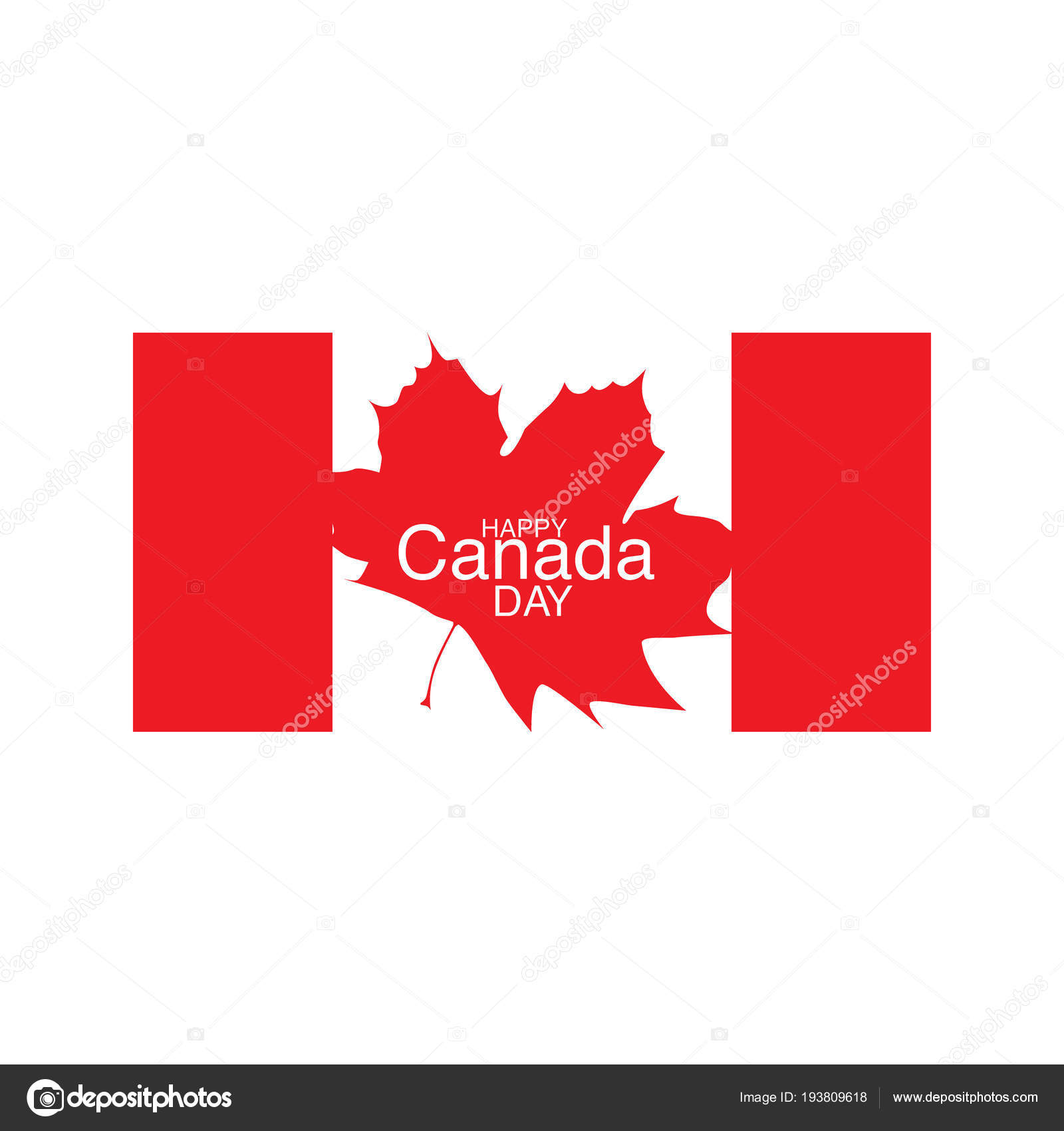 Happy Canada Day Flyer Template Flag Fireworks Celebrate National Stock Vector