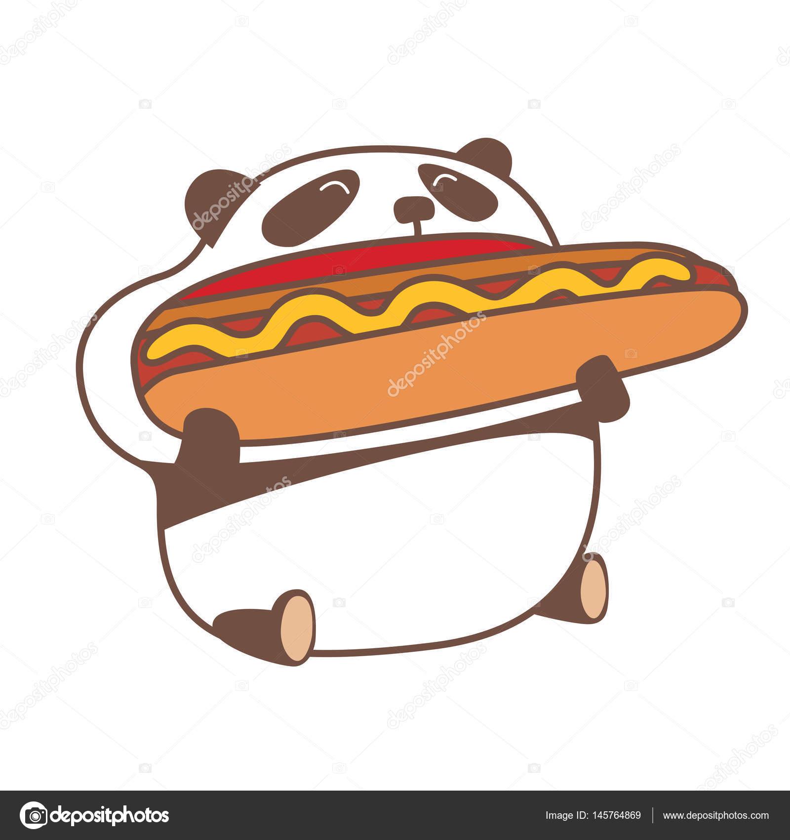 Eating Huge Hot Dog