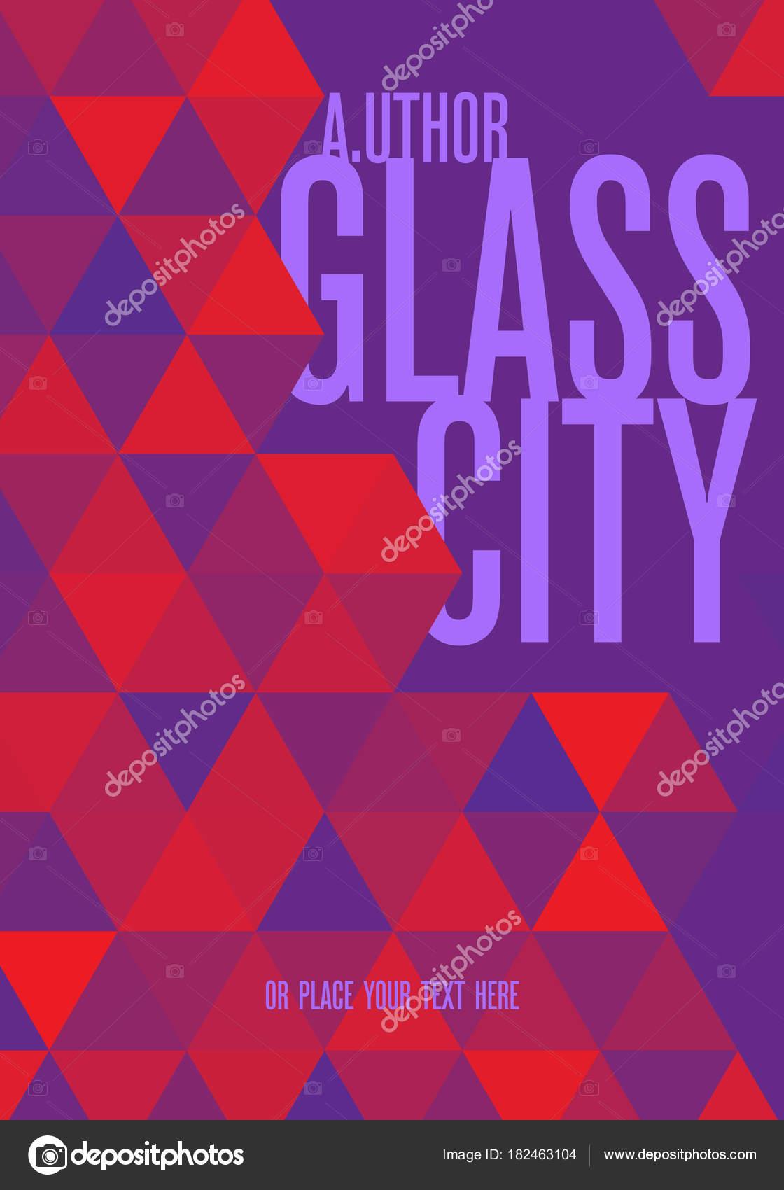 Concepto Creativo Cubierta Libro Triángulos Color Púrpura Rojos ...