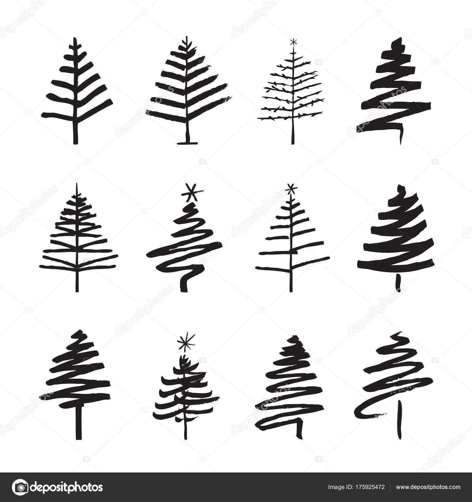 pictures black christmas tree set of