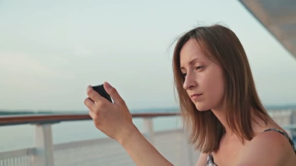 Railing On Top Deck Of Cruise Ship Stock Video PahaL - How to use cell phone on cruise ship