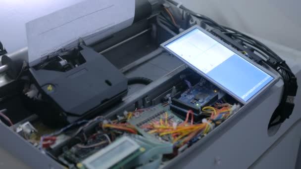 Írógép robot rajz szimbólumok kép