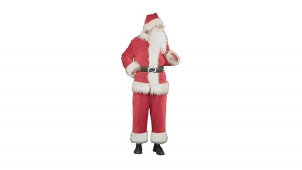 Santa claus na bílém pozadí