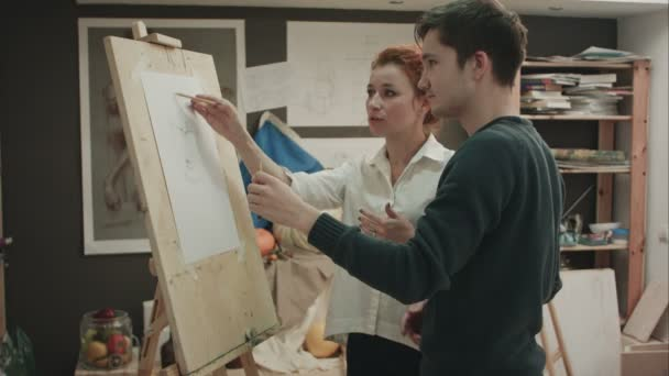 Message, matchless))), Female art teacher male model