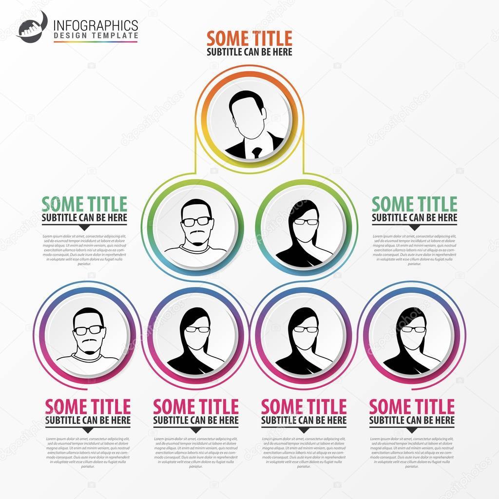 Organization Chart Infographics Design Infographics Vector Stock