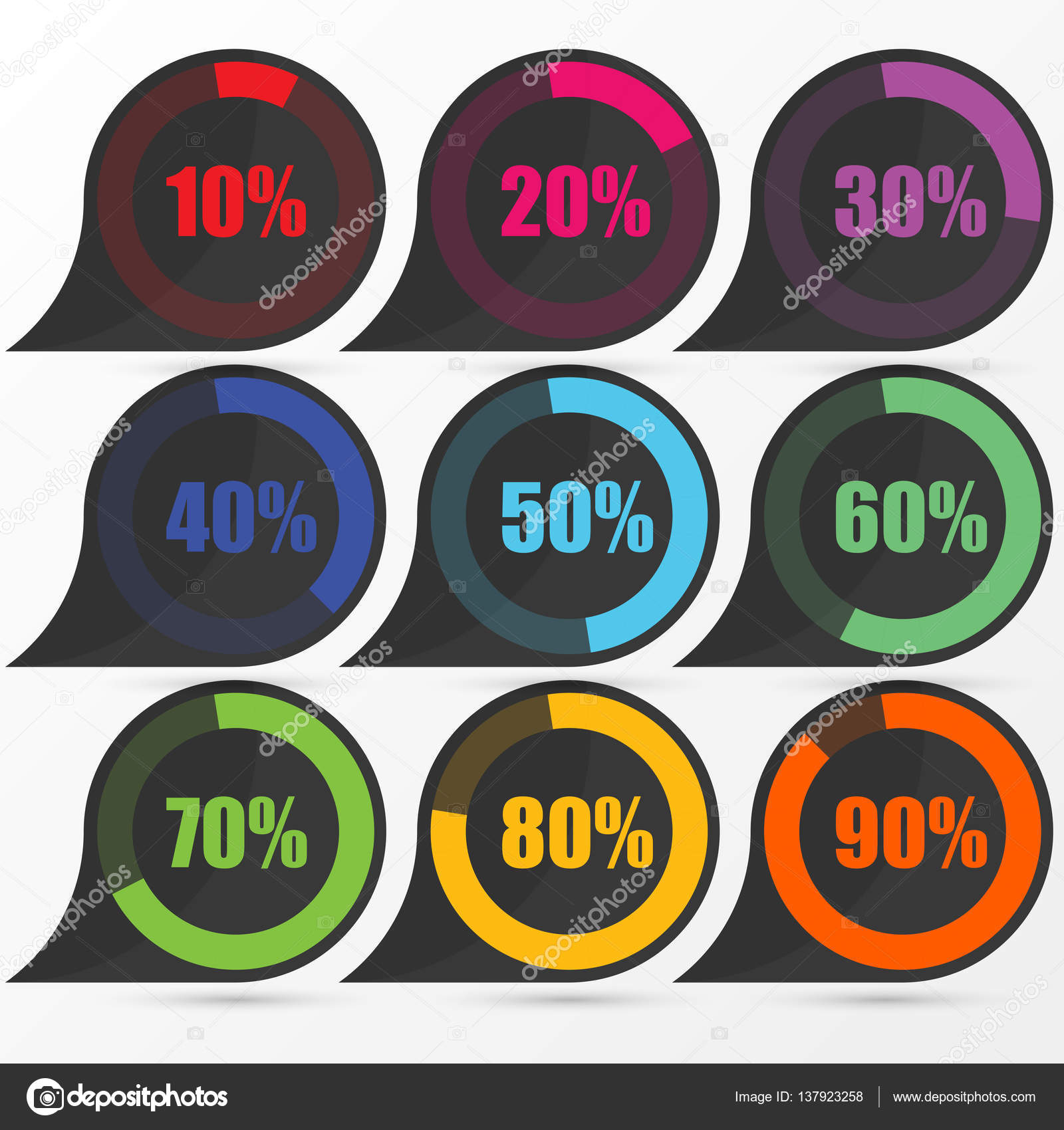 Circle diagram pie charts infographic elements vector stock circle diagram pie charts infographic elements vector illustration vector by ondrakulisekspoluzaci ccuart Image collections