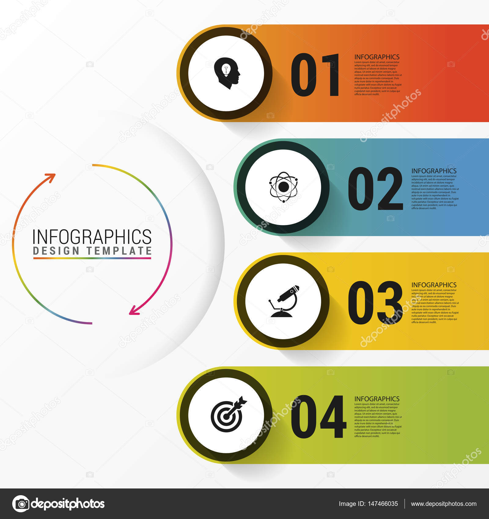 Infographic report template with icons business concept stock infographic report template with icons business concept stock vector cheaphphosting Choice Image