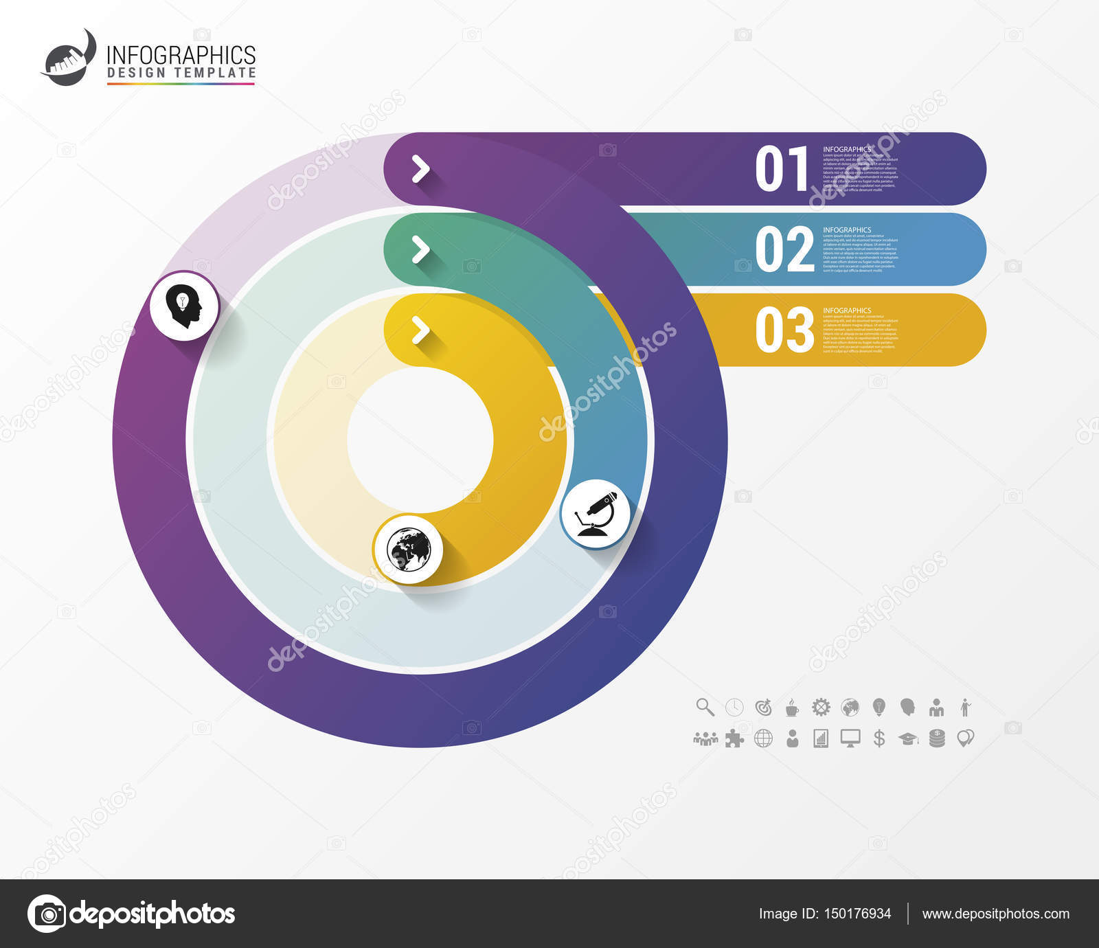 pie chart circle graph. modern infographics design template — stock