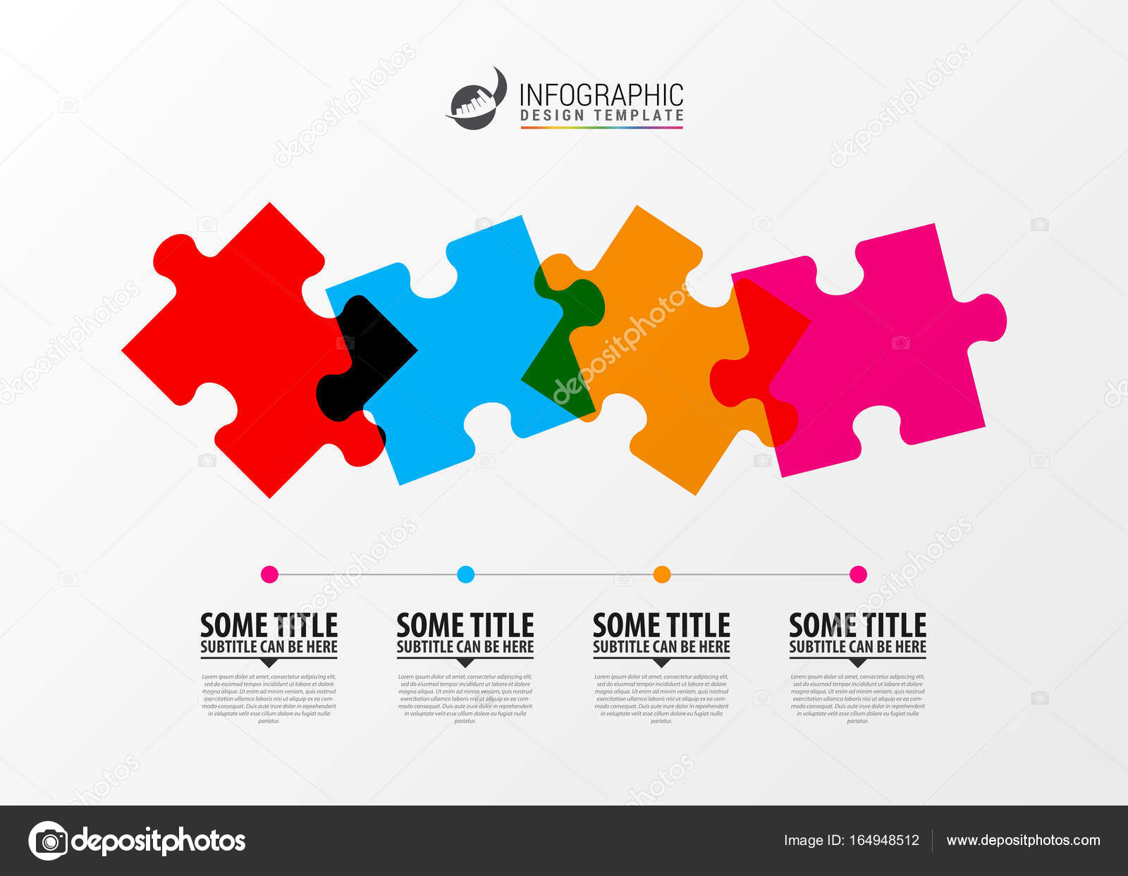 Puzzle piece infographics business concept modern design templa puzzle piece infographics business concept modern design templa stock vector ccuart Gallery