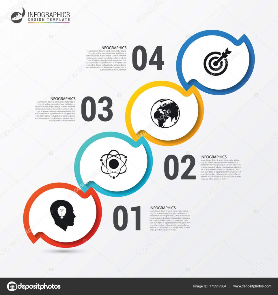 Plantilla de informe de infografía con los iconos. Concepto de ...