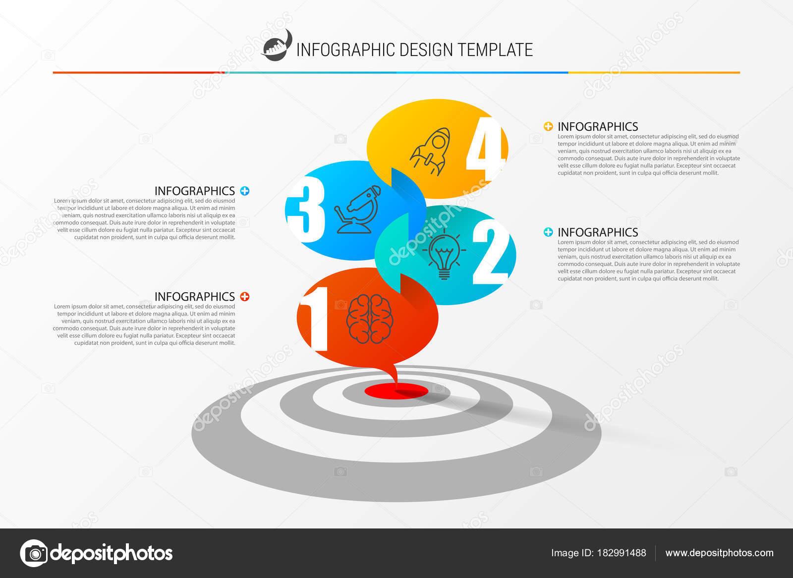 Plantilla de diseño de infografía con destino. Ilustración de vector ...