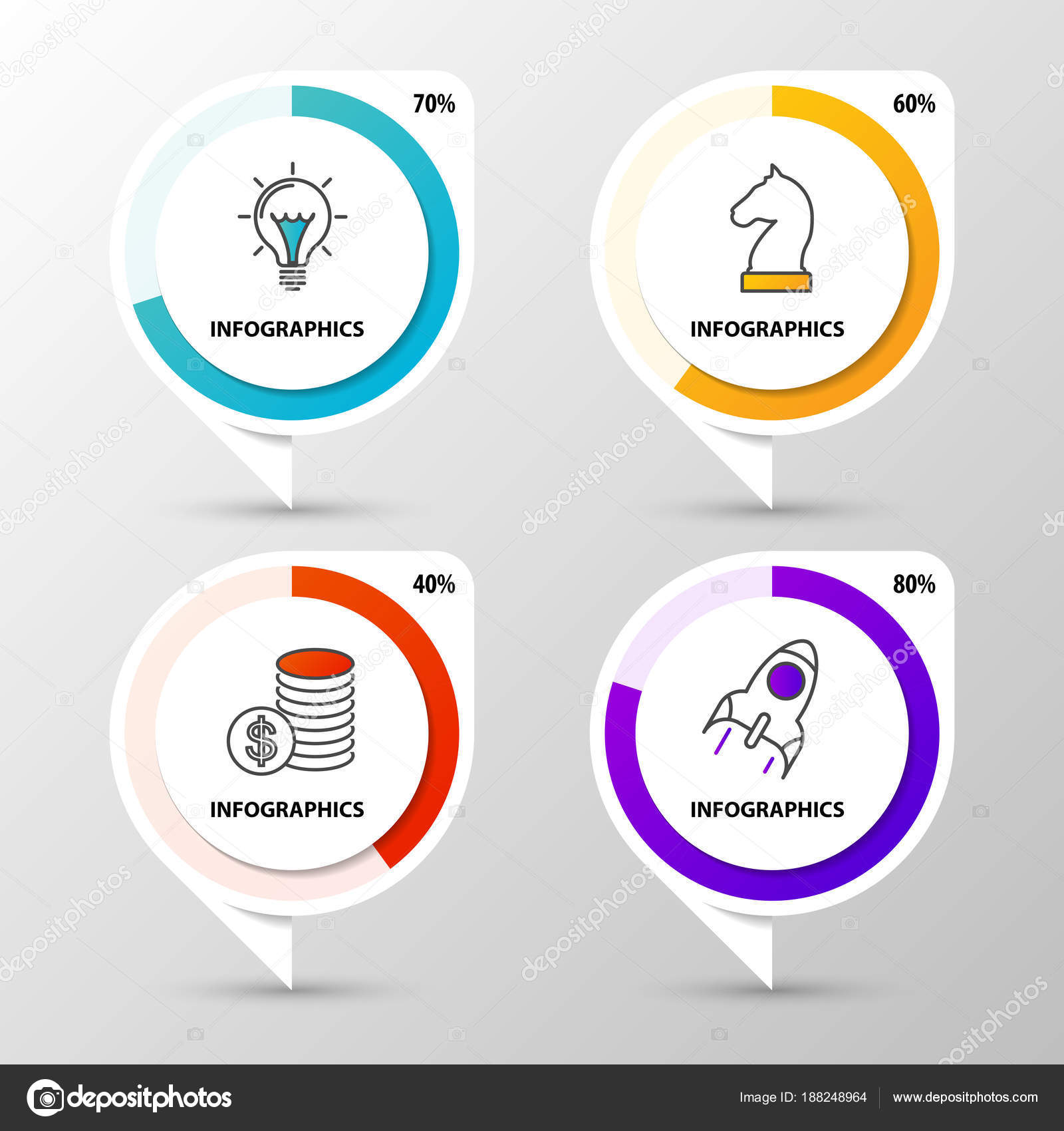 Infographic template business concept with percentage diagrams infographic template business concept with percentage diagrams stock vector cheaphphosting Choice Image