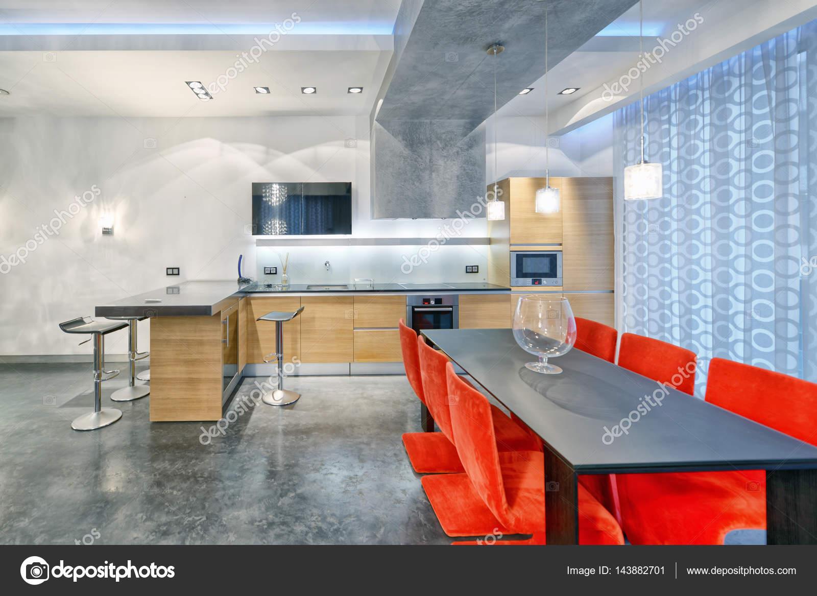 Afbeeldingen Design Keukens : Interieur design keuken woonkamer in luxe nieuw appartement