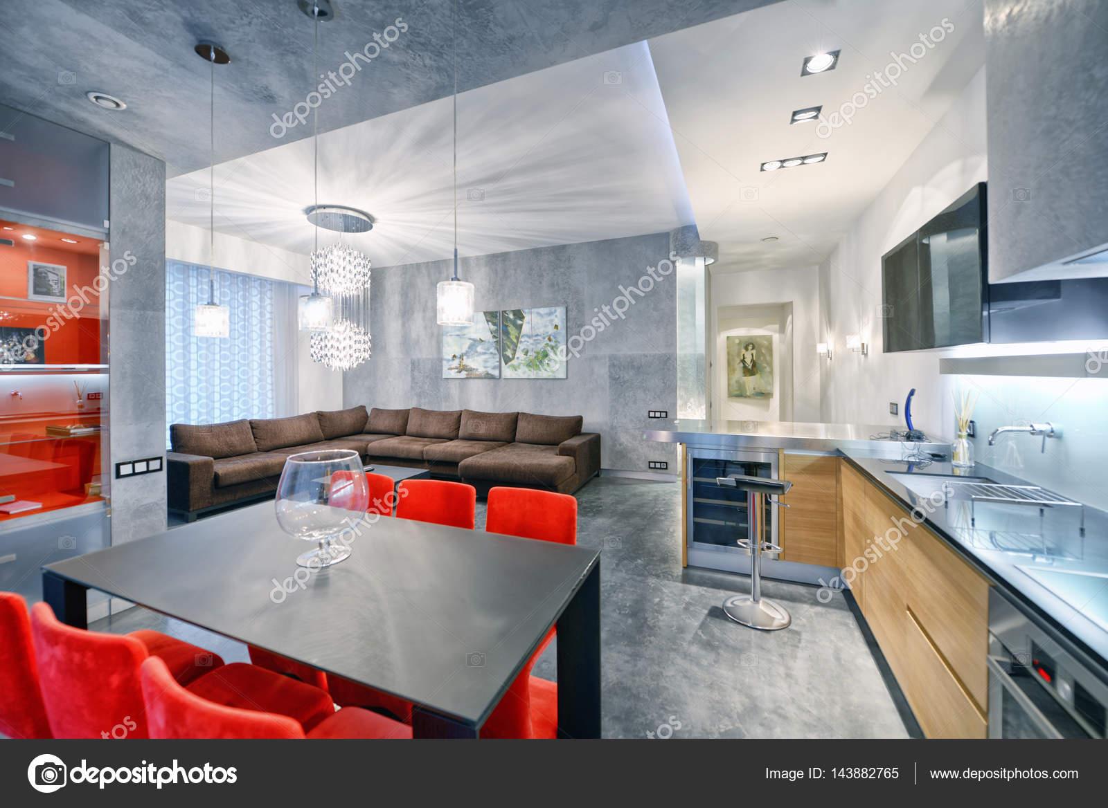 Home Design Keukens : Interieur design keuken woonkamer in luxe nieuw appartement