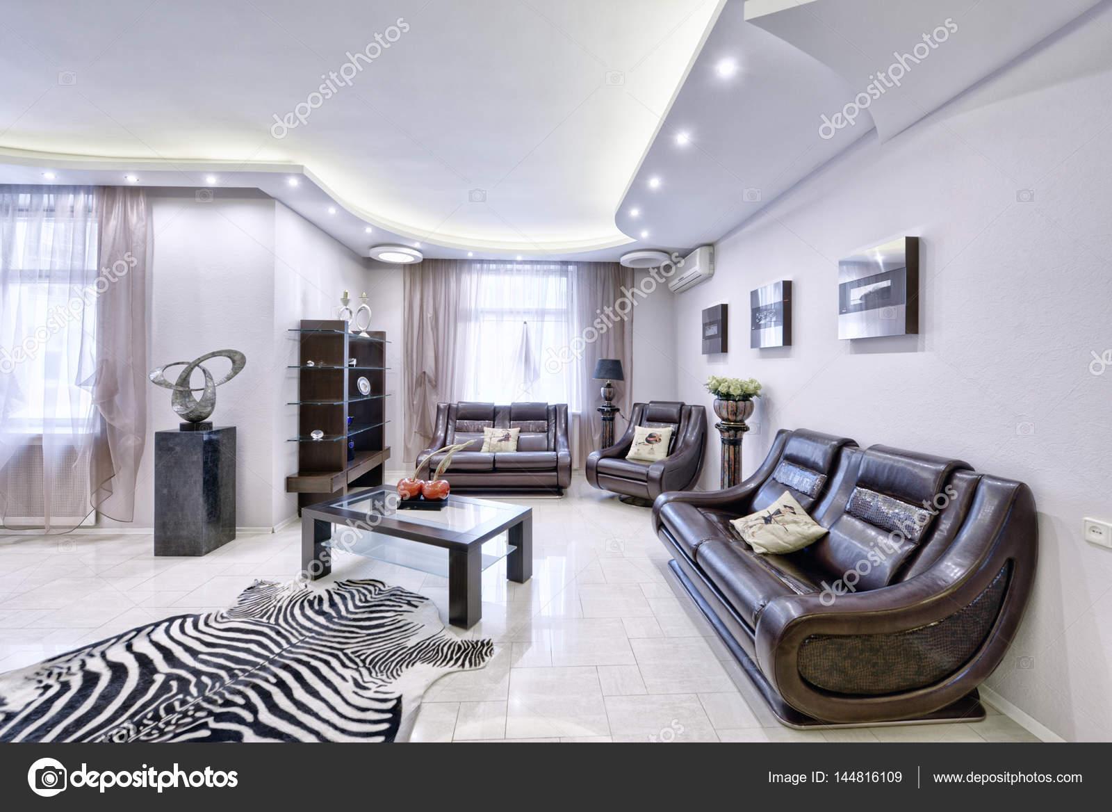Moderne Innenarchitektur Wohnzimmer, Städtische Immobilien U2014 Stockfoto