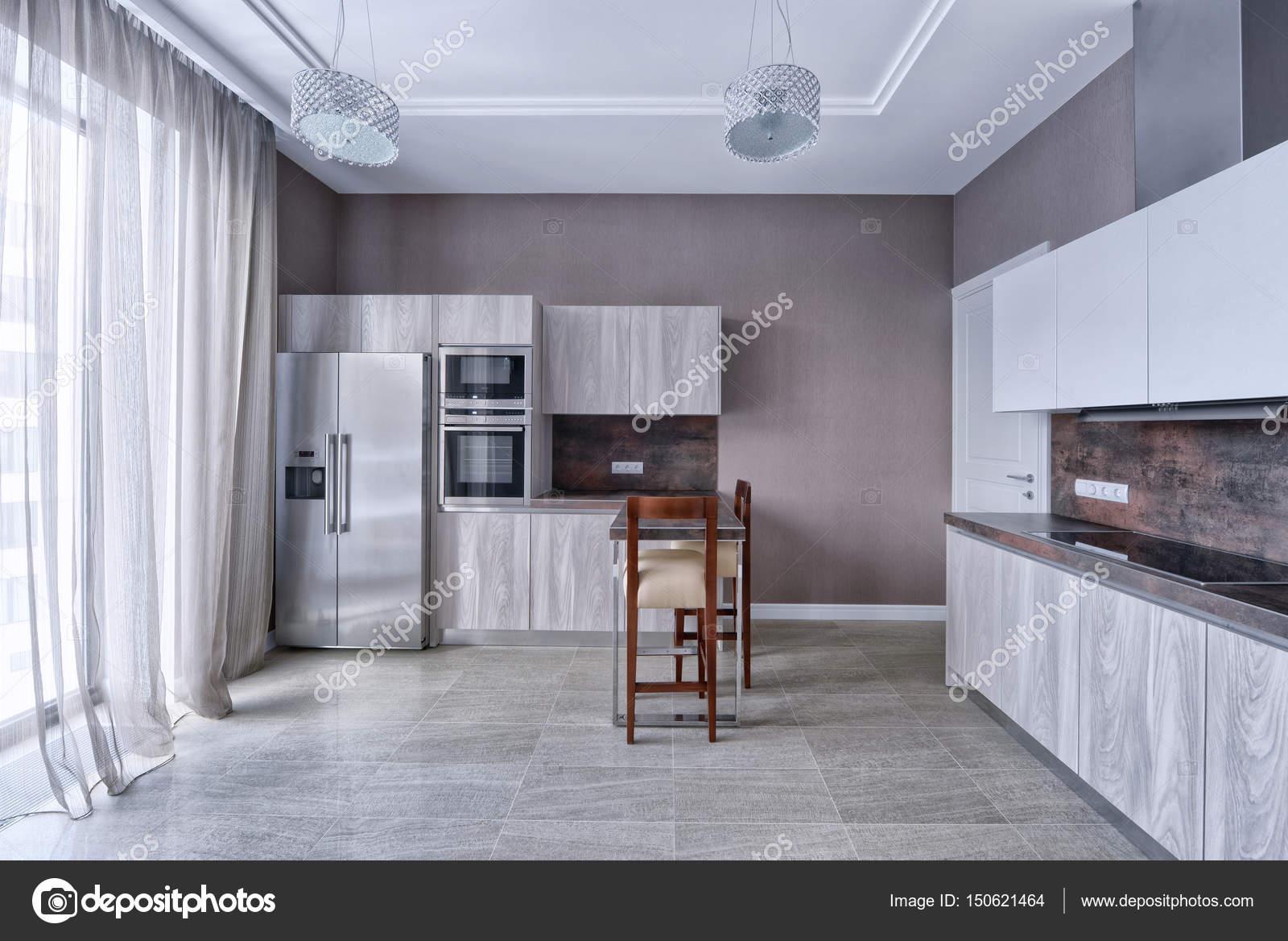 Interior Design moderne Küche im neuen Haus — Stockfoto ...