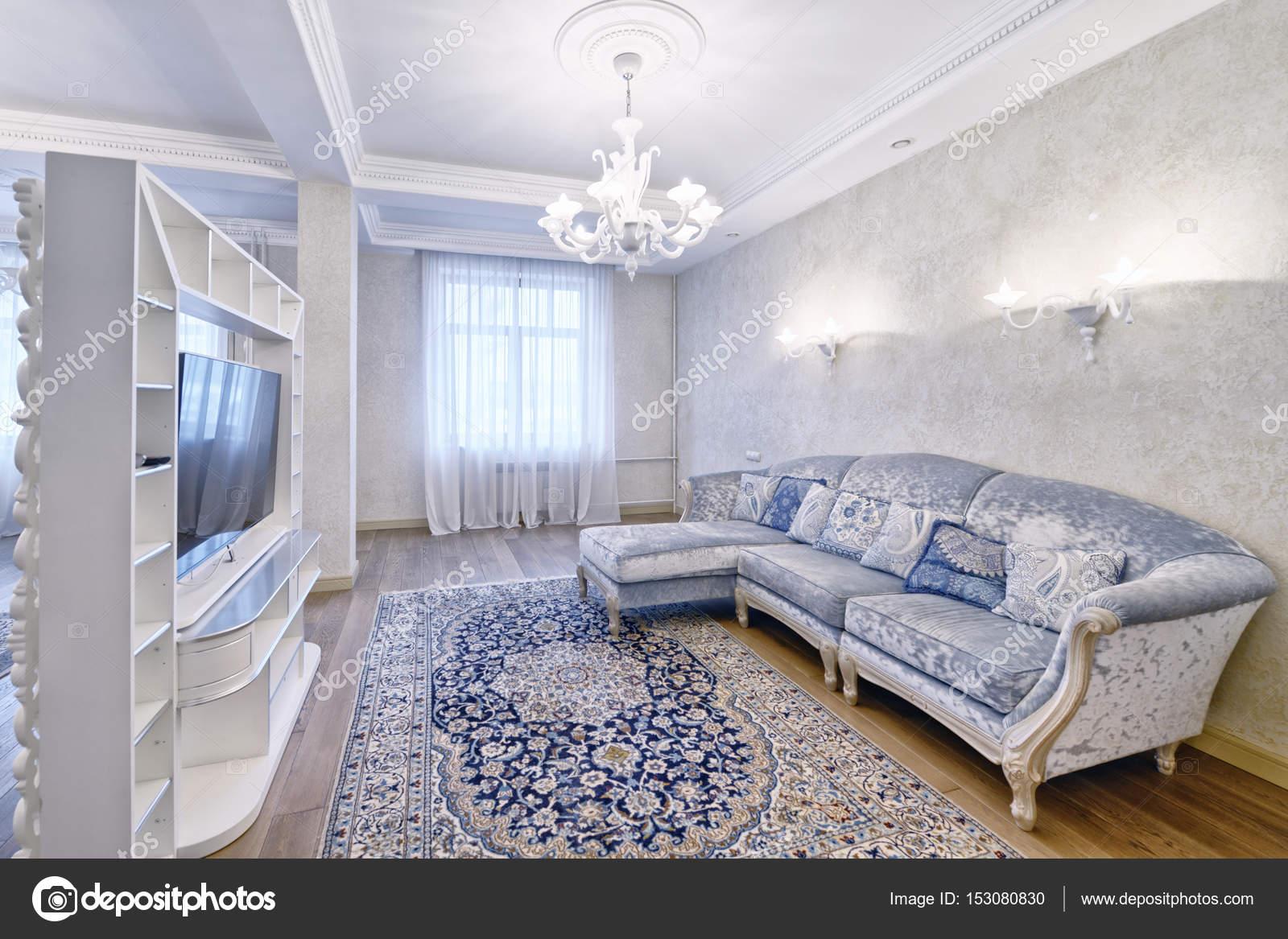 Rusland, Moscow region - interieur design-woonkamer in luxe nieuw ...