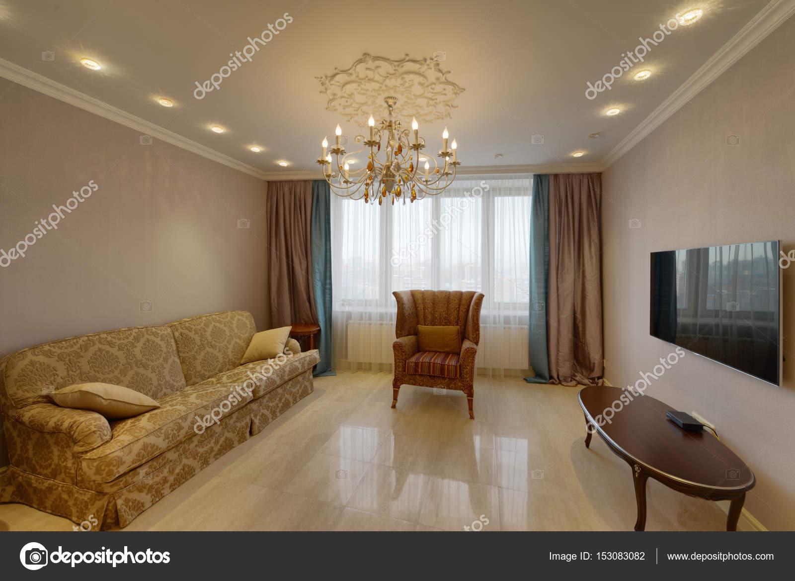 Russland, Moscow Region - Innenarchitektur Wohnzimmer in neue ...