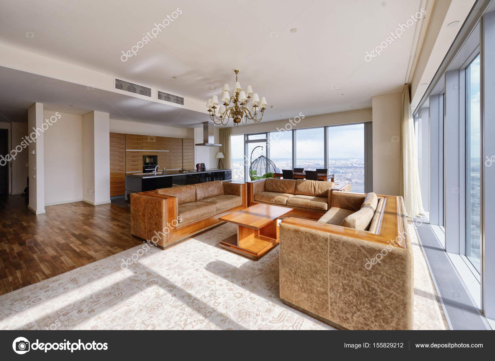 Luxe woonkamer interieur — Stockfoto © ovchinnikovfoto #155829212