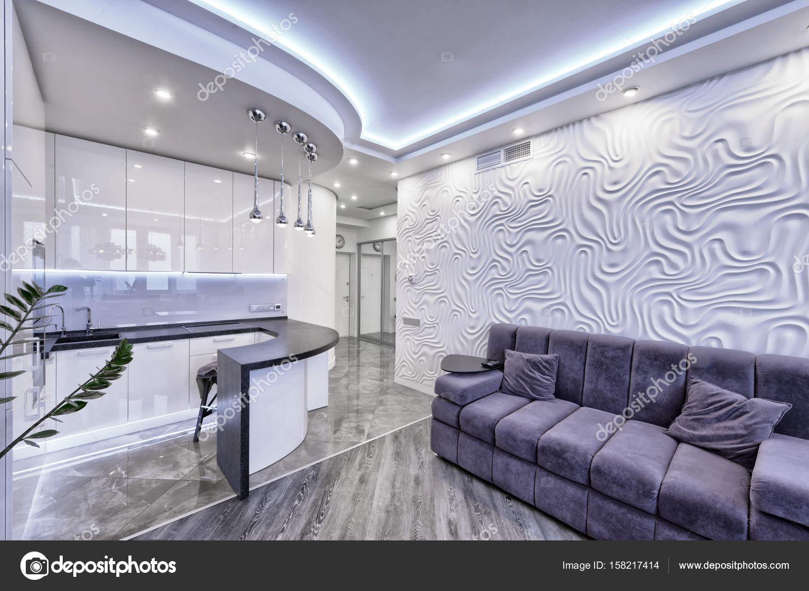 Design Hoogglans Keuken : Moderne design interieur kamer met witte hoogglans keuken in een