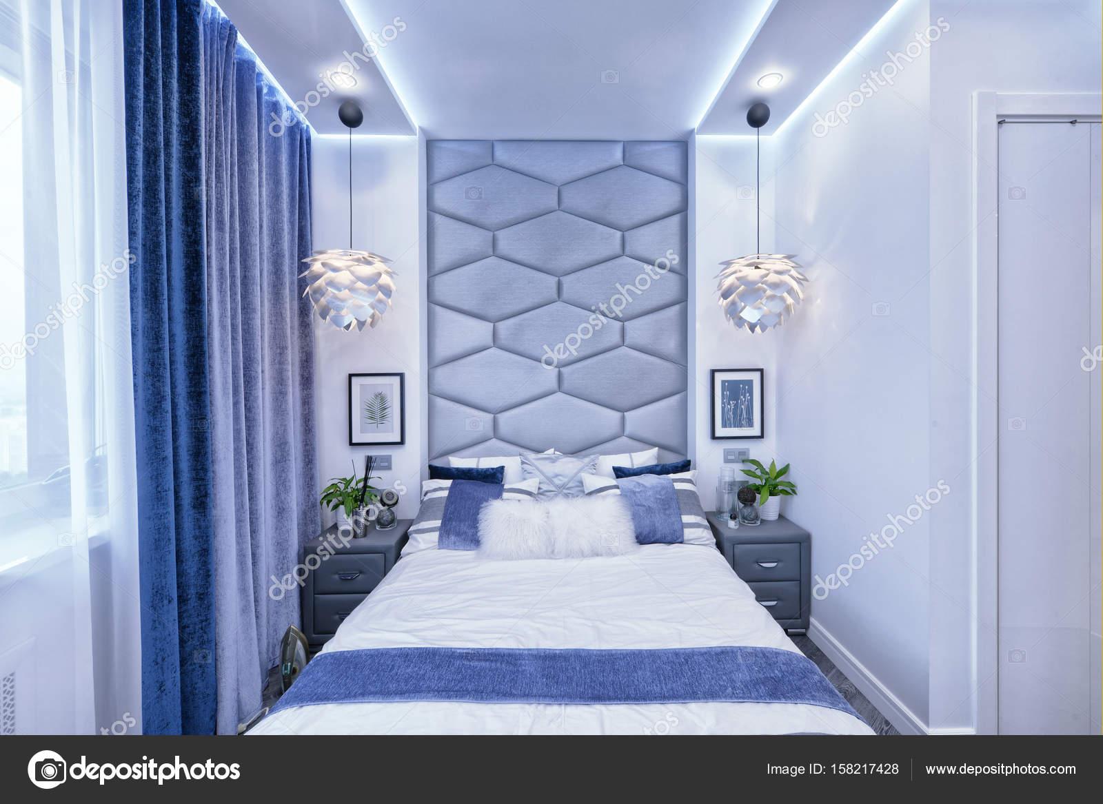 Nowoczesny Design Wnętrza Sypialni W Odcieniach Szarości I